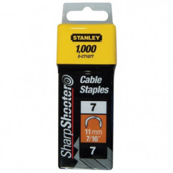 STANLEY 1000 agrafes cavaliers 10mm type 7