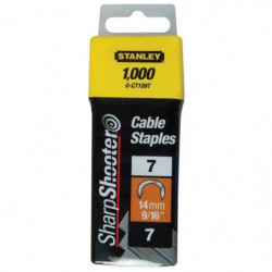 STANLEY 1000 agrafes cavaliers 14mm type 7