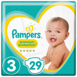PAMPERS Premium Protection Taille 3 - 5 à 9kg - 29 couches