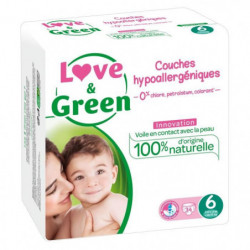 LOVE AND GREEN Couches ecolabellisées Taille 6 - 34 couches