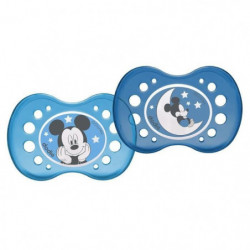 DODIE 2 Sucettes Anatomiques Disney Nuit Mickey 18 m+