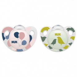 NUK 2 Sucettes Taille 1 Trendline Day - Fille