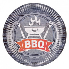 AMSCAN Lot de 8 assiettes BBQ Party 23 cm