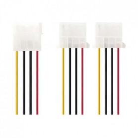 NEDIS Internal Power Cable - Molex Male - 2x Molex Female