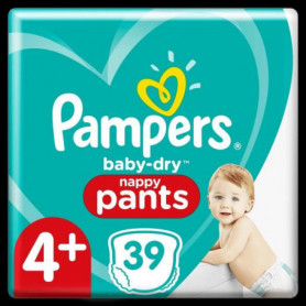 Pampers Baby-Dry Pants Couches-Culottes Taille4+, 39Culottes