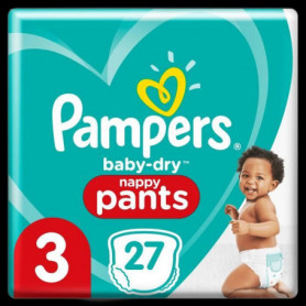 Pampers Baby-Dry Pants Couches-Culottes Taille3, 27Culottes