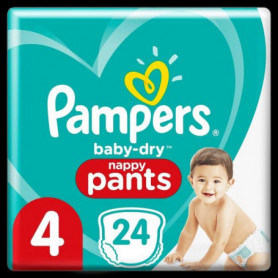 Pampers Baby-Dry Pants Couches-Culottes Taille4, 24Culottes