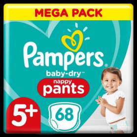 Pampers Baby-Dry Pants Couches-Culottes Taille5+, 68Culottes