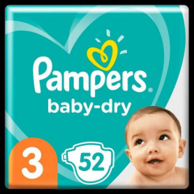 Pampers Baby-Dry Taille3, 52Couches
