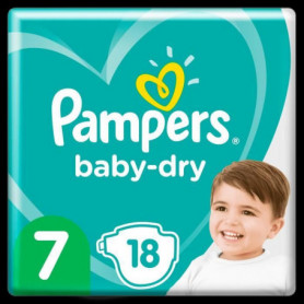 Pampers Baby-Dry Taille7, 18Couches