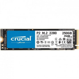 CRUCIAL P2 SSD 250 Go 3D NAND NVMe PCIe M.2 2280SS (CT250P2SSD8)