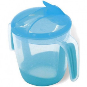 MILL'O BÉBÉ Tasse d'apprentissage à bec repliable - Bleu - 22 cl