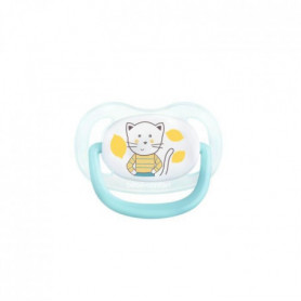 BEBE CONFORT 2 Sucettes Physio Air Confort Silicone  6/18  - Bleu & Jaune - The