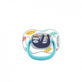 BEBE CONFORT 2 Reversible Soothers Silicone 6/36- Phospho Multicolor - Lazy Slot