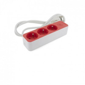 CHACON Bloc 3 x 16 A 3G1.5 mm2 1.5 m- Blanc/  Rouge