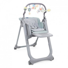 CHICCO Chaise Haute Polly Magic Relax - 4 Roues Antiguan sky