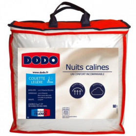 DODO Couettes légere 220x240 - 100% Polyester Microlux - NUITS CALINES