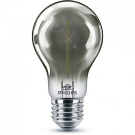 Philips ampoule LED Equivalent 11W E27 Blanc chaud smoky non dimmable. Verre