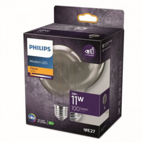 Philips ampoule LED Equivalent 11W E27 smoky Blanc chaud non dimmable. Verre