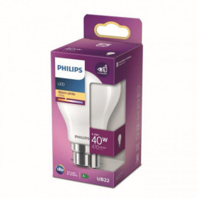 Philips ampoule LED Equivalent 40W B22 Blanc chaud non dimmable. verre