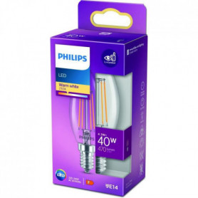 Philips Ampoule LED Equivalent 40W B35 E14 Blanc chaud Non Dimmable