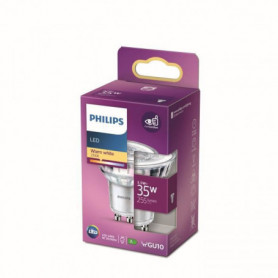 Philips Ampoule LED Equivalent 35W GU10 Blanc chaud Non Dimmable