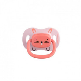 BEBE CONFORT 2 Sucettes Reversible Silicone 18/36 -  Rose - Minimalist Animals