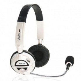 Casques avec Microphone NGS MSXProWhite Blanc (3.5 mm)