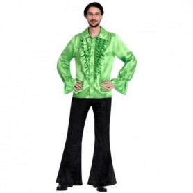 Costume adultes Satin Shirt lime taille Standard